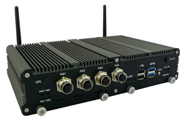 Mobile 16-channel video recorder. Available as NVR or hybrid recorder. Internal backup battery.